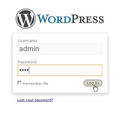 Страница авторицации wordpress